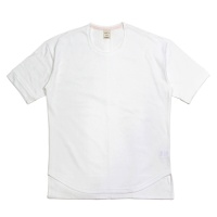 Panel Round Square Hem Crew Neck