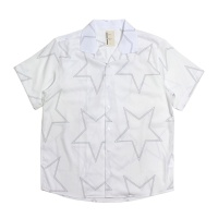 Star Pattern Open Collar Shirt