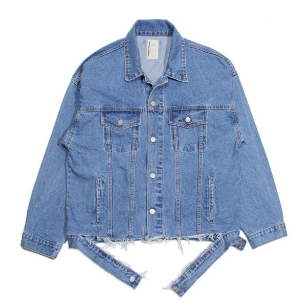 画像1: Oversize Destroyed 3rd Type Denim Jacket