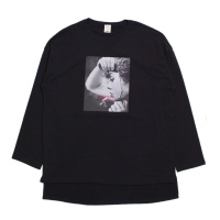 Photo Printed Loose Crew Neck