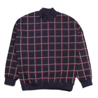 Checked Mockneck Sweat