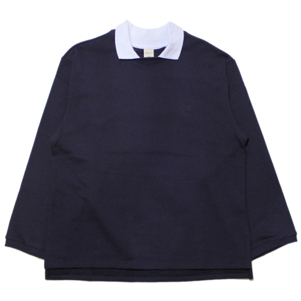 画像1: Heavy Terry Crew-Neck Polo