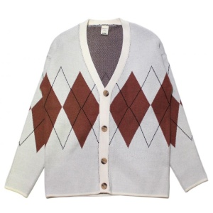 Argyle Pattern Cardigan